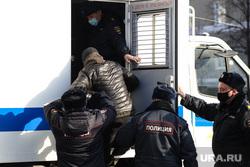 Несанкционированная акция в поддержку оппозиционера. Курган, автозак, задержание активистов, полиция, протест