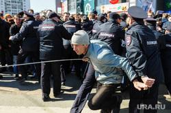 Шествие сторонников Навального. Челябинск, беспорядки, прорыв демонстрантов