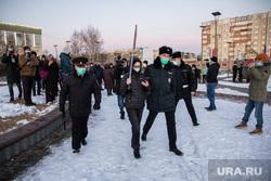 Несогласованный митинг в поддержку Навального. Сургут, задержание на митинге, полиция на митинге