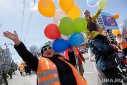 Первомайская демонстрация. Пермь, шарики, первомай, приветствие, первомайская демонстрация