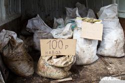 Стихийный рынок. Нижневартовск, навоз, мешки, ценник