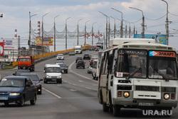 Разное. Курган, автомобили, автобус, автодорога, машины, некрасовский мост