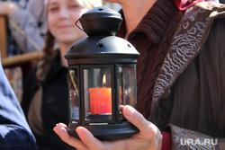 Пасха Крестный ход Курган, свеча, благодатный огонь