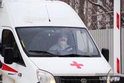 Машины скорой помощи в красной зоне городской больницы №2. Курган , защитный костюм, медицина, скорая помощь, защитная одежда, машина скорой помощи, медицина, коронавирус, водитель скорой помощи
