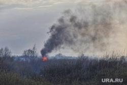 Пожар на шоссе Тюнина. Курган, пожар, тушение пожара