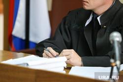 Судебное заседание по продлению ареста экс замгубернатора Ванюкова Романа. Курган, судебное заседание, судья, суд, триколор