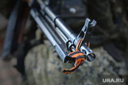 Украина. Славянск, пулемет, оружие, георгиевская лента