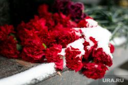 Прощание с Геннадием Бухтиным на Троекуровском кладбище. Москва, снег, траур, гвоздики, цветы, память, мемориал