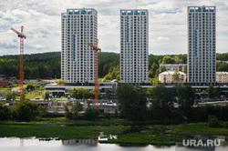 Виды Екатеринбурга , недвижимость, квартира, башенный кран, жилой квартал, жилье