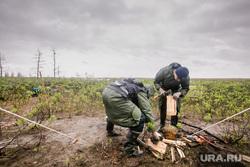 Рабочая поездка Дмитрия Кобылкина в Норильск. Норильск, север, спасатели, тундра, арктика, палаточный лагерь, вахтовики, экология, экологическая катастрофа, таймыр