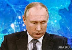 Большая пресс-конференция президента РФ Владимира Путина. Москва, путин владимир на экране