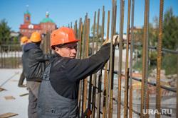 Строительство Дома Новой Культуры. Первоуральск, строители, рабочие