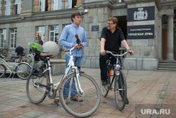 Велосипедисты у администрации Екатеринбурга, велосипедисты