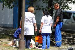 Эвакуация БСМП. Курган, медсестра, медперсонал, врач, медпомощь, пациенты больницы