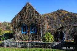 Виды Челябинской области, деревянный дом, дача, загородный дом, сад, природа урала, дом в деревне, поселок виляй