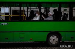 Екатеринбург во время режима самоизоляции по COVID-19, эпидемия, автобус, маршрутка, пожилые люди, виды екатеринбурга