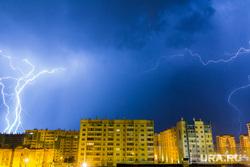 Клипарт. Магнитогорск, гроза, непогода, город, ночь, молнии, стихия