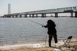 Клипарт. Сургут, рыбак, мост через обь, рыбалка, жд мост