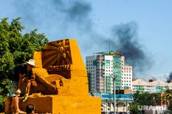 Пожар. Челябинск, дым, пожар