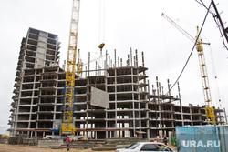 Стройка. Нижневартовск , подъемный кран, многоэтажка, краны, строящееся здание, стройка