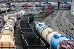 Железнодорожная станция, горка и вокзал. РЖД. Челябинск, поезд, вагон, грузовой поезд, железнодорожный узел