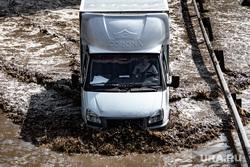 Подтопленная улица Шефская. Екатеринбург, газель, затопленная улица, потоп, подтопление, улица шефская