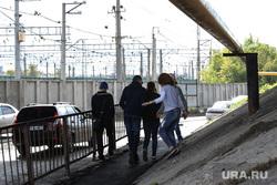 Аварийное состояние Некрасовского моста. Курган, мост, пешеходы, подростки, дети, некрасовский мост