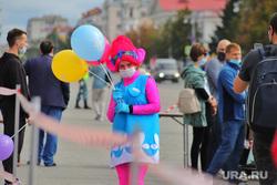 День города.  Курган , веселье, день города, воздушные шарики, площадь ленина