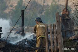 Верховые пожары в поселках Джабык и Запасное. Челябинская область