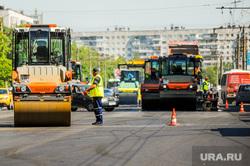 Дорожные работы. Челябинск, каток, дорожные рабочие, дорожные работы, асфальт, ремонт дороги, дорожники, комсомольский проспект