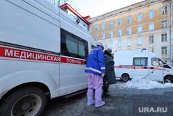 Приёмный покой в красной зоне городской больницы. Курган, защитный костюм, медики, скорая помощь, фельдшер, зона карантина, красная зона, городская больница 2