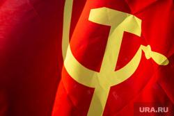 Митинг-встреча с депутатом от КПРФ Валерием Рашкиным. Москва, коммунисты, красный флаг, советский флаг, флаг ссср, флаг, кпрф, митинг, флаг советского союза