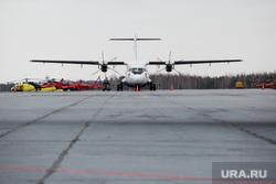 Первый полёт самолета «Виктор Черномырдин» (Boeing-767) авиакомпании Utair из аэропорта Сургут , взлетная полоса, авиация, самолет, ATR 72-500