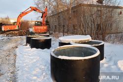 Строительство канализационных сетей. Курган, канализационные кольца