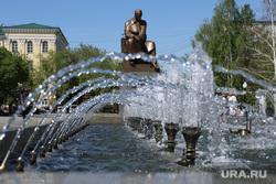 Запуск фонтанов в центре города. Екатеринбург, жара, городской фонтан, фонтан