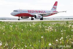 Самолёт Аэрофлота в ливрее Добролета. Екатеринбург, авиакомпания red wings
