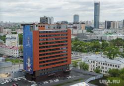 Центральный стадион Екатеринбурга, башня исеть, отель hyatt, город екатеринбург, хайат, чм2018