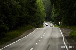 Дорога, трасса. М5. Челябинская область, лес, трасса, автодорога, дорога, автотранспорт, автомобильная дорога, поворот дороги