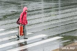 Дождливый день. Тюмень, пешеходный переход, дождь