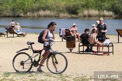Пляж Бабьи пески. Курган, отпуск, пляж бабьи пески, лето, река тобол, отдых на воде, жара, велосипед, пляжный песок