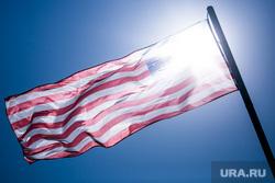 Первый день Московского авиакосмического салона МАКС-2021. Московская область, Жуковский, американский флаг, флаг сша, флаг америки