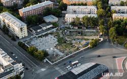 Виды с квадрокоптера. Екатеринбург, площадь первой пятилетки, граффити, покрас лампас