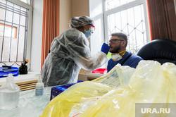 Тест на коронавирус у журналистов контактных с условно зараженным. Челябинск, медсестра, медик, эпидемия, тест на covid19