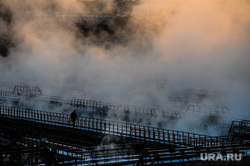 Очистные сооружения. Челябинск., пар, очистные сооружения, туман