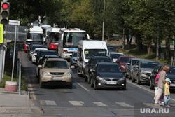 Городской транспорт, такси. Пермь, автомобильная пробка, автомобили