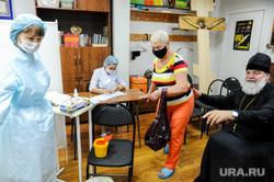 Вакцинация от коронавируса  в Свято-Васильевском храме. Челябинск, прививка, отец сергий, вакцинация, коронавирус