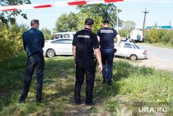 Оцепление на месте обнаружения Насти Муравьевой. Тюмень, старое фото, полиция, полицейское оцепление, поисковые работы