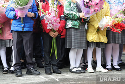Торжественная линейка в гимназии 27. Курган, школьная линейка, торжественная линейка, школа, 1 сентября, ученики с цветами