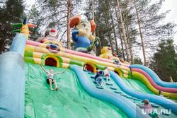 Балатовский парк. Пермь, аттракцион, парк развлечений, дети, надувной батут