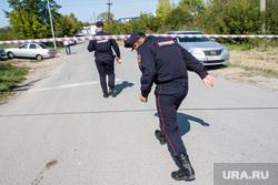 Поисковые работы на месте обнаружения тела Насти Муравьевой. Тюмень, полицейское оцепление